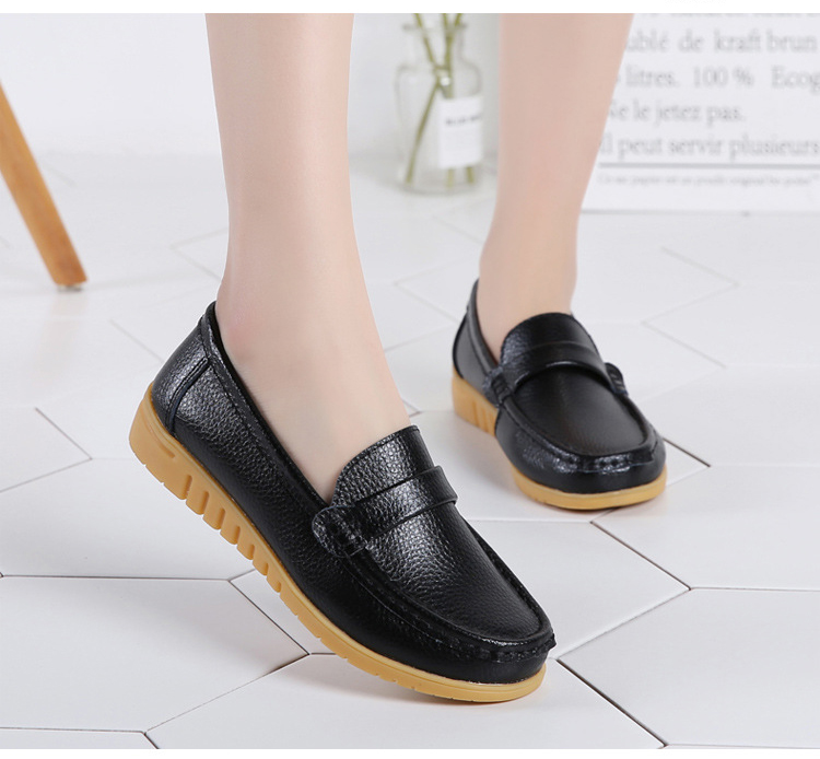 AH 2020-2019 Spring Autumn Women Loafers Genuine Leather Woman's Flats-6