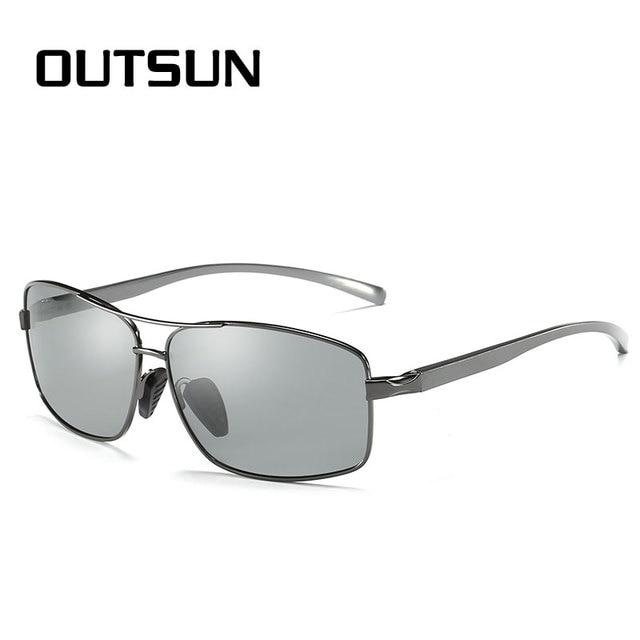 4f8d6ee7cd OUTSUN Photochromic Polarized Sunglasses Men Women Drivving Fishing Sun  glasses Alloy Frame UV400 Polaroid Oculos De Sol