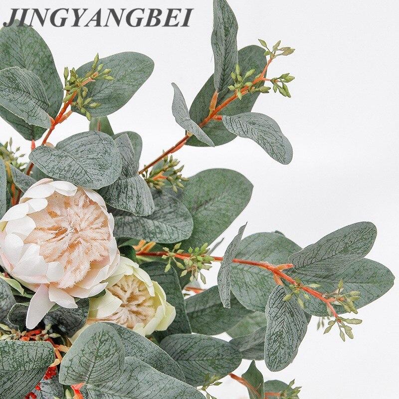 83cm Künstliche Blumen Niederlande mit Obst Eukalyptus Blatt Decor Haus Tisch Landschaftsbau Gefälschte Palnt Hochzeit Partei Liefert