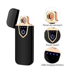 اللمس الاستشعار على الوجهين USB قابلة للشحن أخف يندبروف عديمة اللهب السيجارة الإلكترونية ولاعات السجائر الكهربائية البلازما