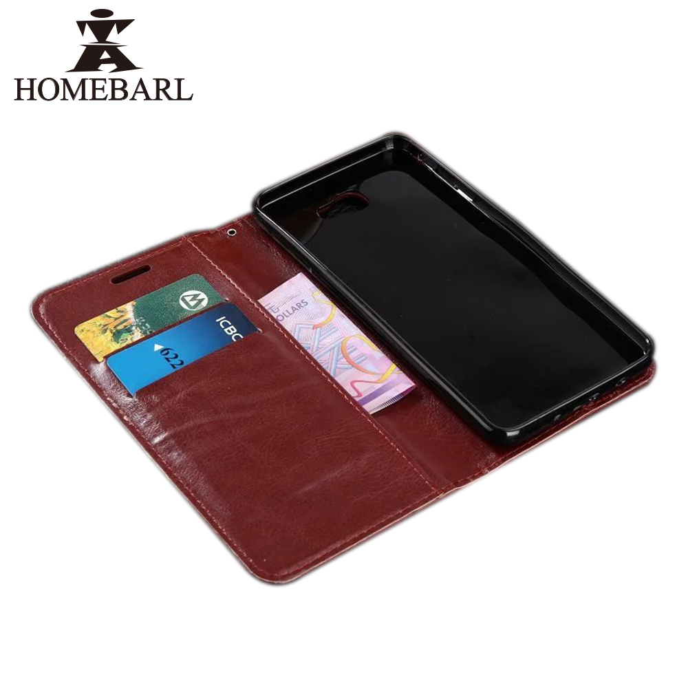 HOMEBARL <font><b>Flip</b></font> Wallet Cover <font><b>Case</b></font> For Samsung ON 5 7 2016 N7100 3608 PU Leather Luxury <font><b>Phone</b></font> <font><b>Case</b></font> Stand Three Cards+Holder Pouch
