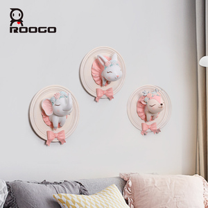 Roogo Air балетные стены Висячие чаши украшения дома аксессуары 3D смолы милые тарелки фигурки животных ручной работы посуда подарок для друзей