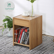 Louis Fashion Coffee Tables White oak bedside cabinet Japanese simple solid wood corner bedroom storage sheet(China)