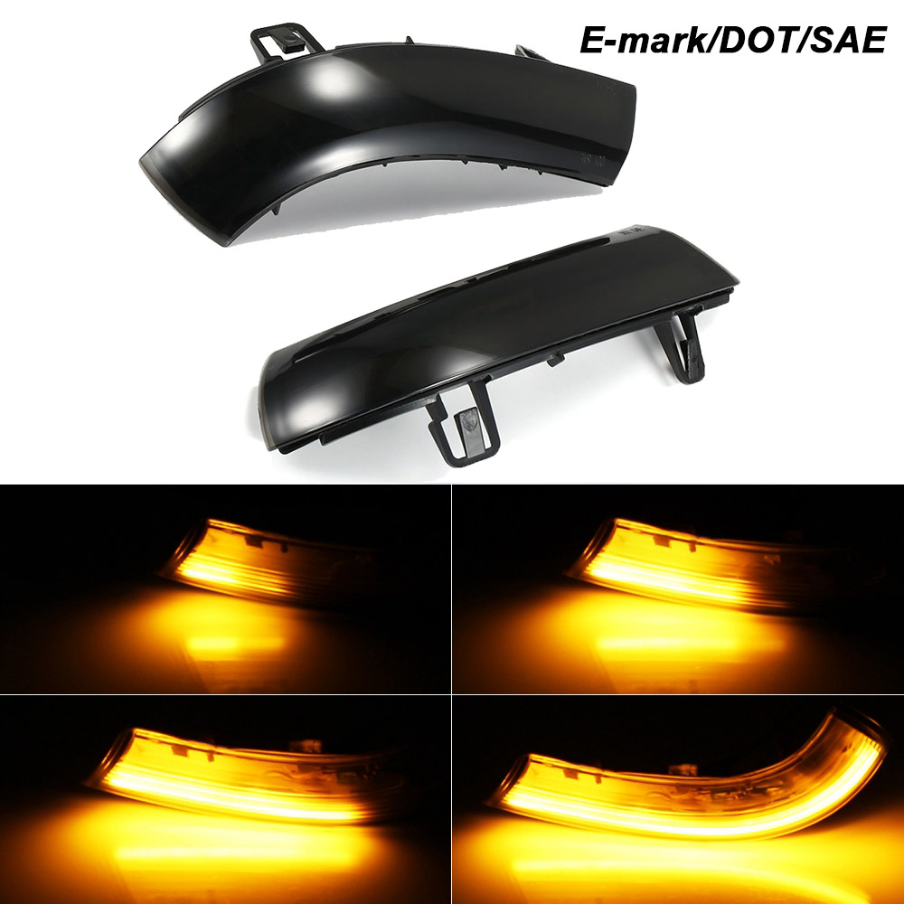 2 Pieces Side Mirror Indicator Dynamic Blinker LED Turn Signal Light For VW GOLF 5 GTI V MK5 Jetta Passat B5.5 B6 Sharan Superb