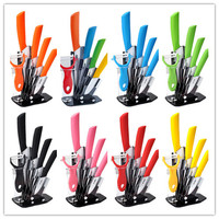 High Quality Ceramic Knife Sets 3 4 5 6 Inch Peeler Holder 8 Colors Select Ceramic