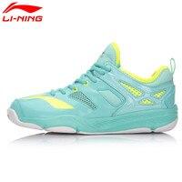 Li Ning Women's Badminton Shoes Breathable Anti slip Comfortable Li Ning Sports Althetic Sneakers AYTM014 L665OLB