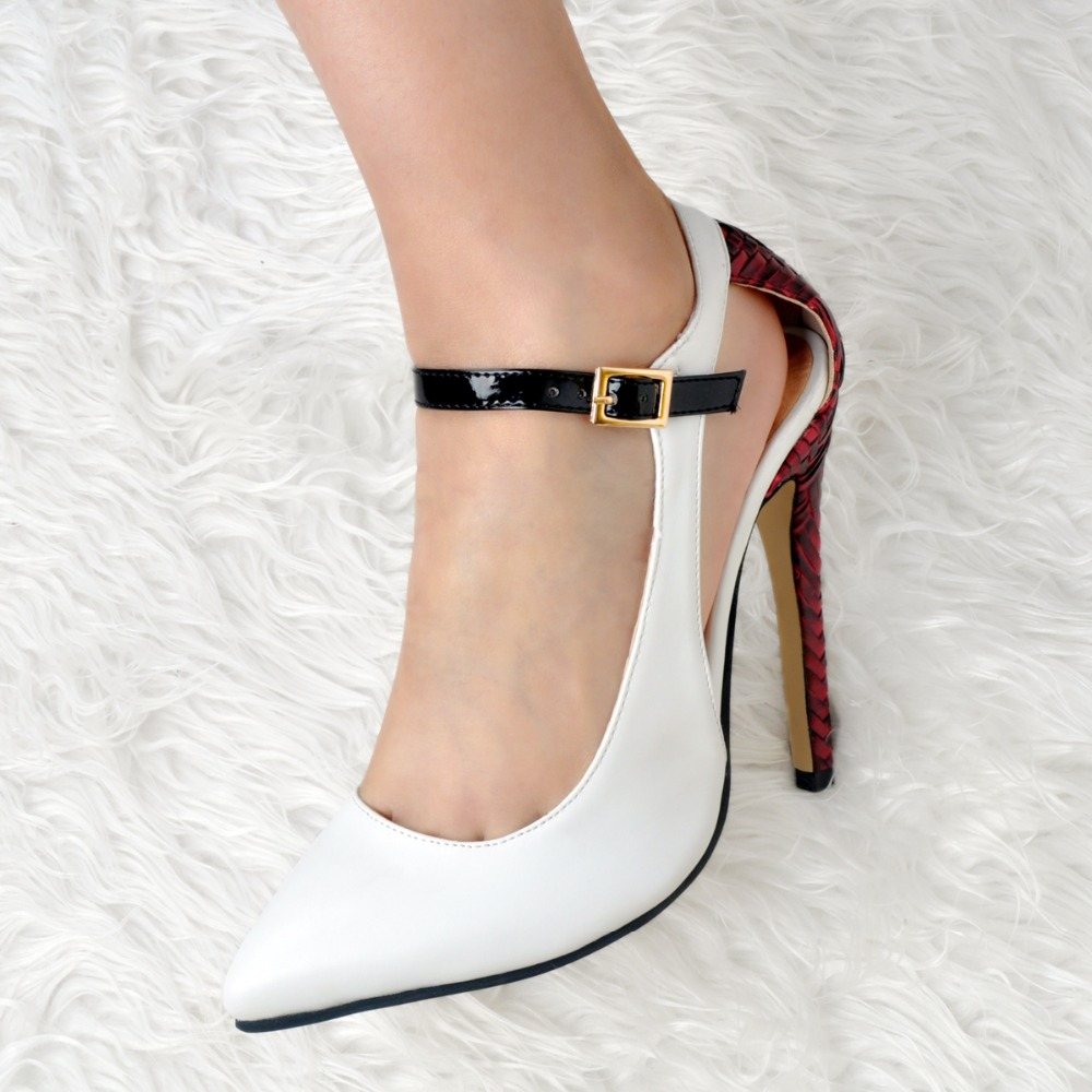 ФОТО New Elegant Women Sandals Beautiful Pointed Toe Thin Heels Sandals Gorgeous White Shoes Woman Plus US Size 4-15
