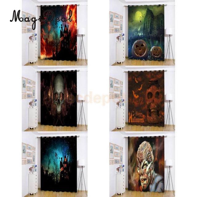 Halloween espeluznante fantasma bruja calabaza puerta ventana Panel ...