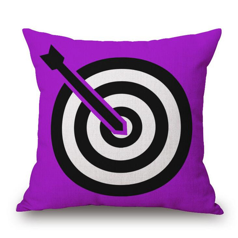 Fashion Cartoon Style Target Printed Decor Cushion Pillow Almofada Home Linen CottonThrow Pillow Fashion Cushions Fundas Cojines