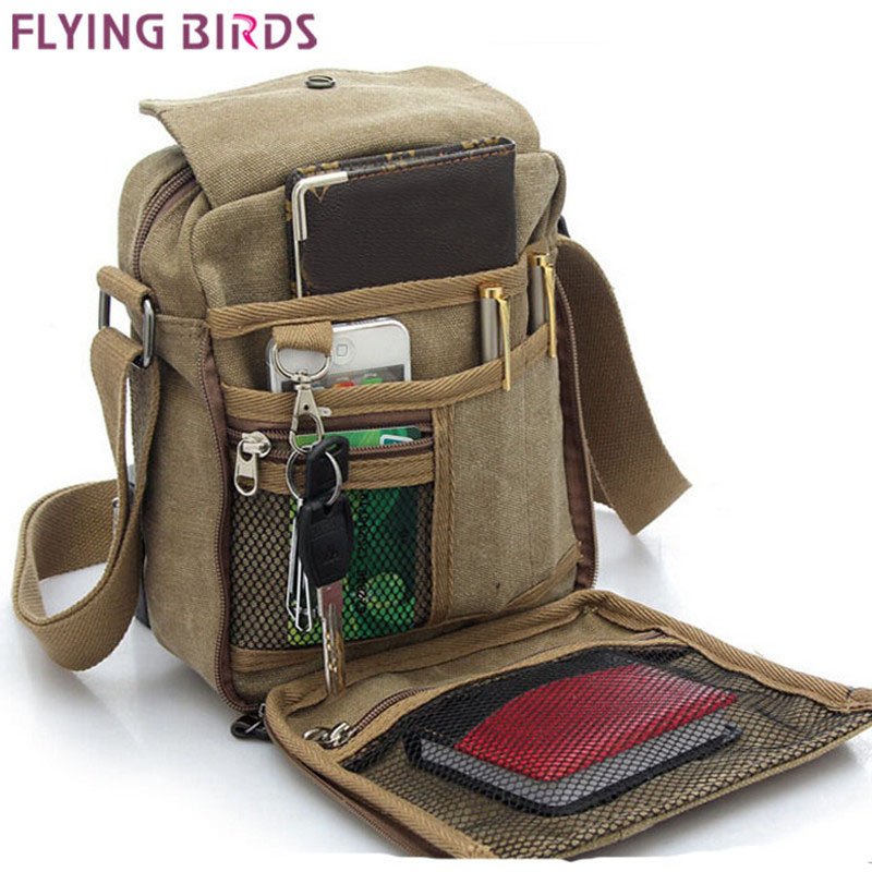 Men Bag Canvas-Bags Messenger-Bags Birds Flying Travel Hot-Sale Men's High-Quality LM0001