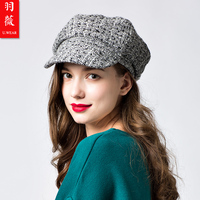 New Arrival Winter Berets Girls Painters Hats Female Leisure Travel Hats Adult Windproof Knitted Hats Student