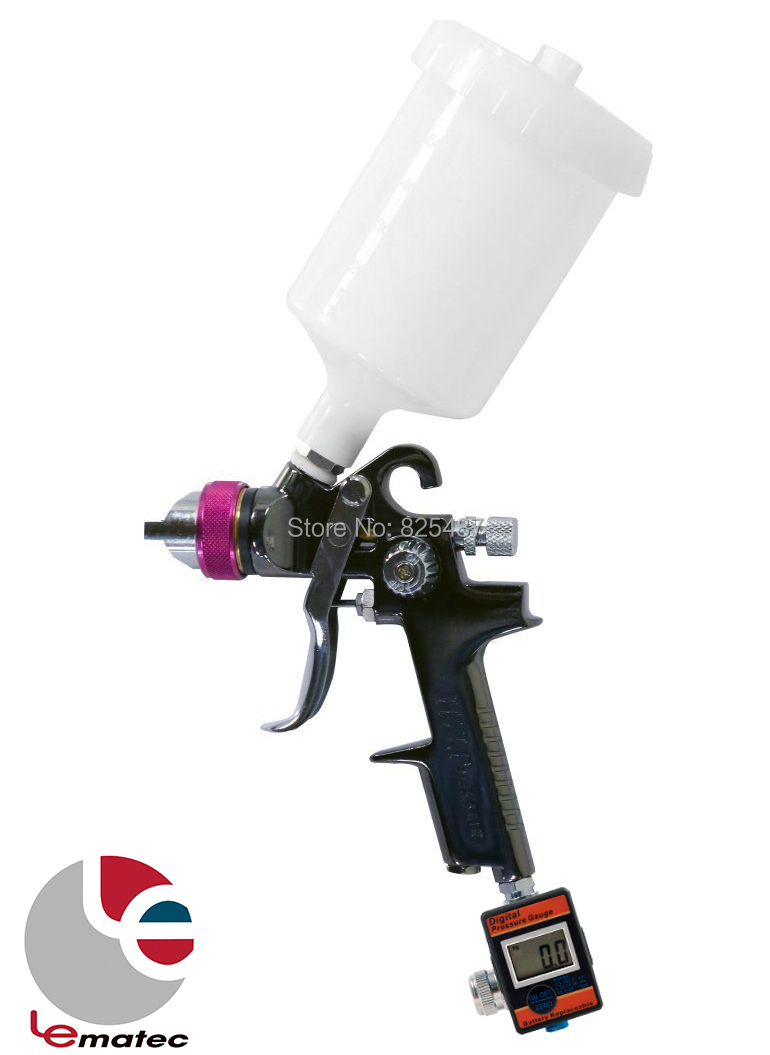 LEMATEC 1.4 mm HVLP Paint Gun Spray Gun with Digital air pressure regulator air tool spray gun sets Air Paint Gun with Spinner minecraft игровой конструктор из бумаги враждебные мобы 30 деталей