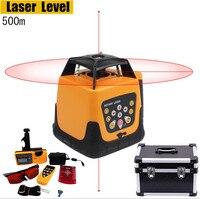 Automático 500m escala auto-nivelamento rotativo laser nível eletrônico tubos de ensaio nivelamento instrumento