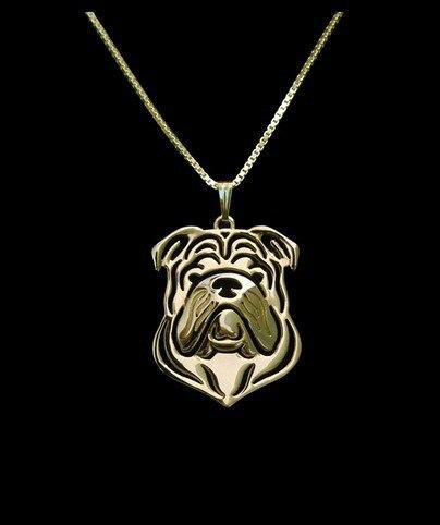 Ожерелье в стиле бохо с изображением английского бульдога