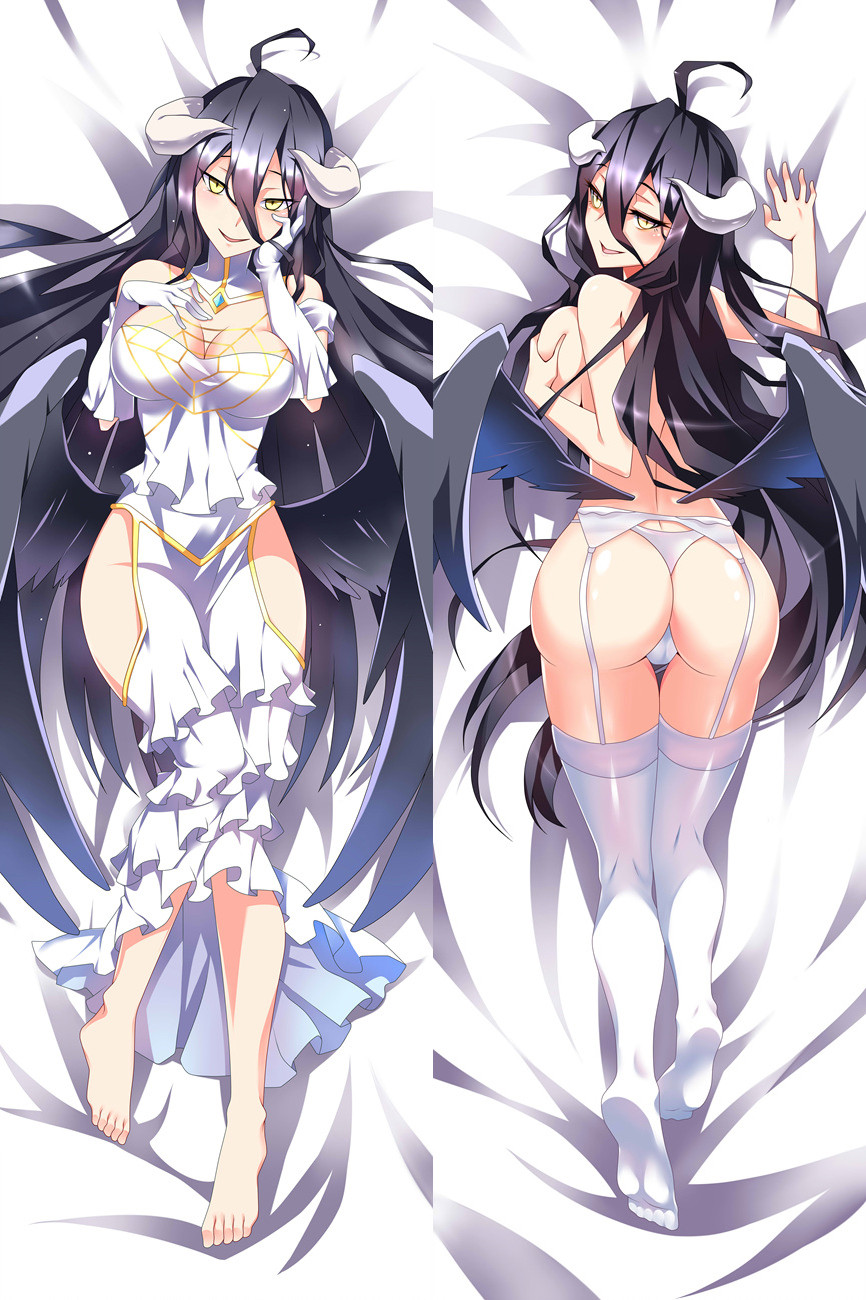 Hentai 150cm Japanese Anime Overlord Albedo beautiful Kawaii decorative Sexy Pillow Covers Case Hugging Body Bedding