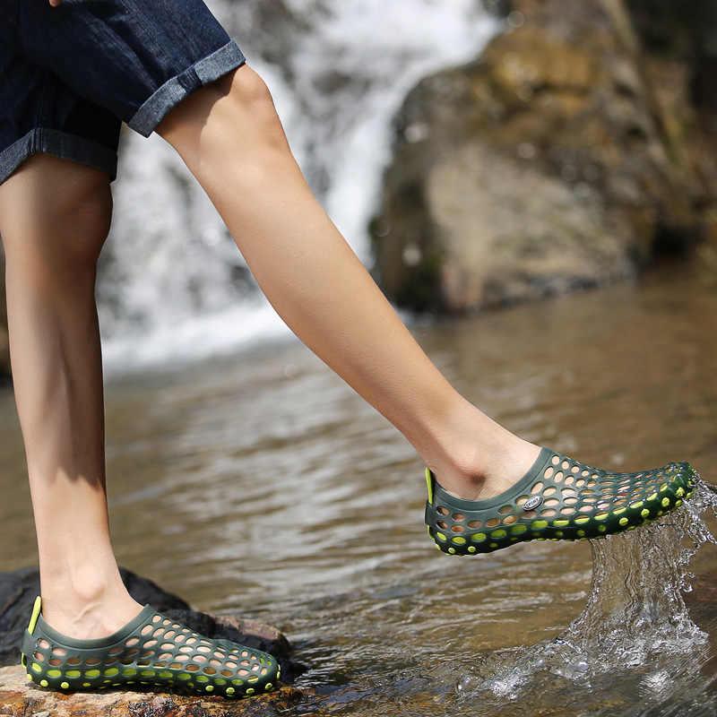 Strand Water Schoenen Voor Mannen Vrouwen Strand Sandalen Hollow Out Casual Ademend Slippers Flats Upstream Schoenen Aqua Schoenen