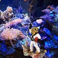 Аквариумная шкатулка для драгоценностей Охотник украшения забавные украшения для дома рыба украшение для аквариума Смола Охотник за сокровищами Декорации для аквариума