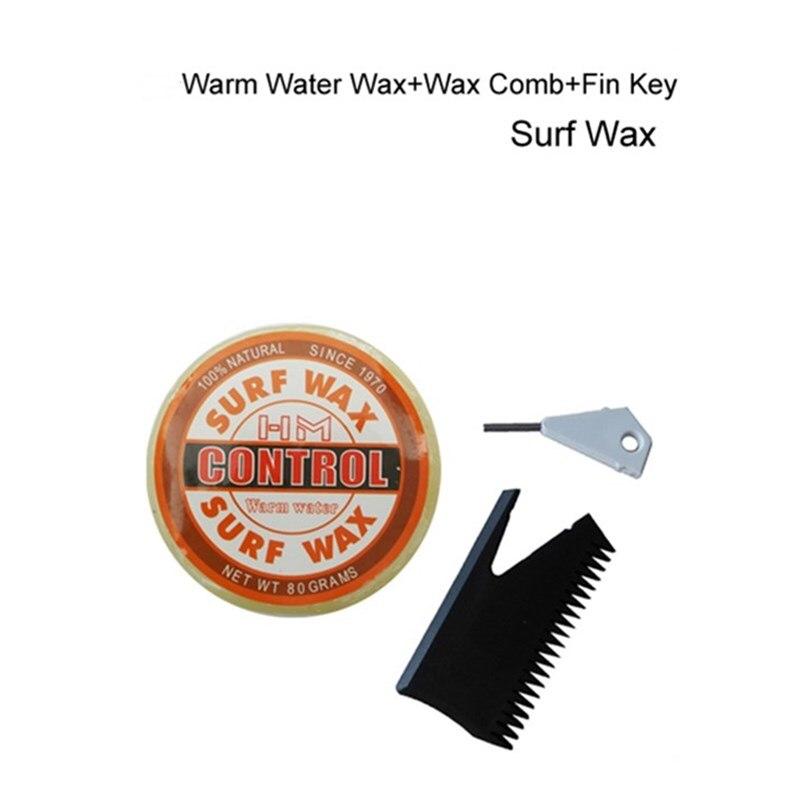 Surf Wax surfbræt voks Varmt vand voks med voks kam / Fin Key