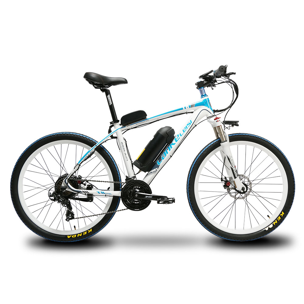 CyrusherT8 Mans Fast 21 Speeds Moutain Electric Bicycle 250Watt 48V 10AH Disc Brakes 19KG Mountain Ebike  17X26Inch