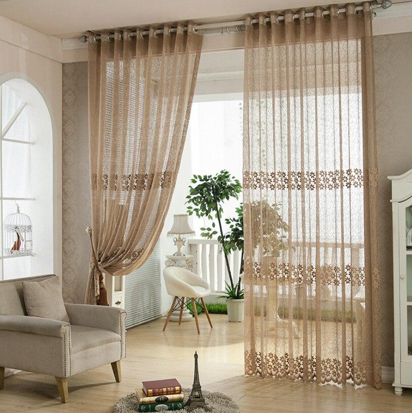 cortinas de tul ventana de cortinas para la sala de estar dormitorio moderno producto hilado
