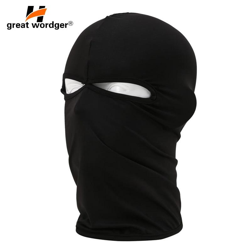 2 Hole Motorcycle Face Masks Motorcycle Headgear Full Face Mask Summer Breathable Bike Cycling Sun Protection Balaclava