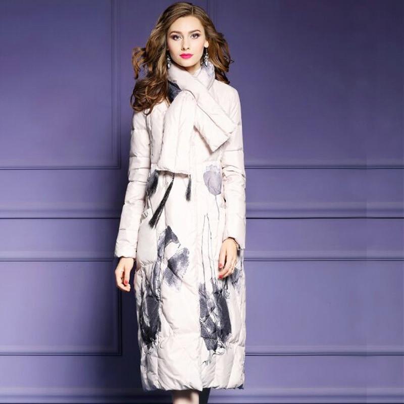 2018 New Winter Jacket Women Plus Size   Down     Coat   Women Parkas Female Long White Duck   Down   Jacket High Quality Winter Women   Coat