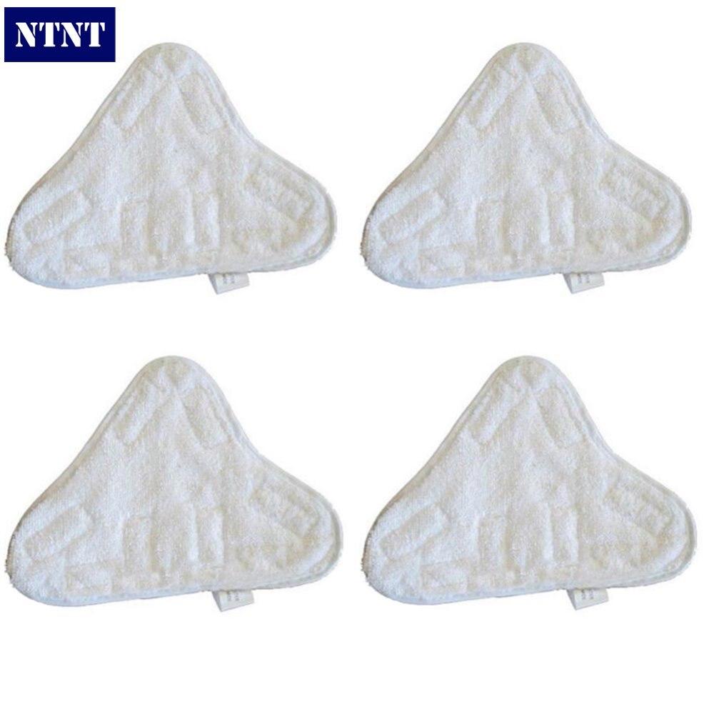 NTNT 4Pcs/Lot Velcro Microfibre Steam Mop Floor Pads For H20 5X Clean Mop - Washable New стоимость