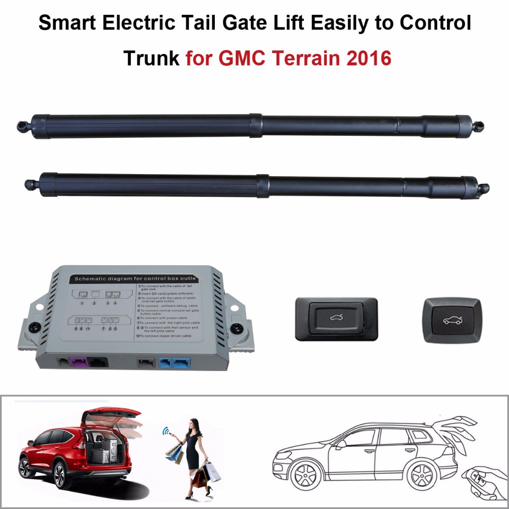 Smart Auto Electric Tail Gate Lift For GMC Terrain 2016 Control Set Height Avoid Pinch With Latch