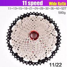 Volante de inercia para bicicleta de montaña, 11-40 42 46 50T, tipo de tarjeta, 11 velocidades, Piñón, ratio de ancho para M7000