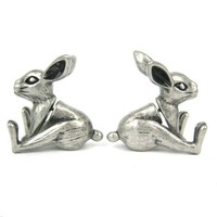 New Arrival Fake Gauge Eearrings Realistic Bunny Ratbbit Animal Shaped Fake Plug Stud Earrings for Women ED094