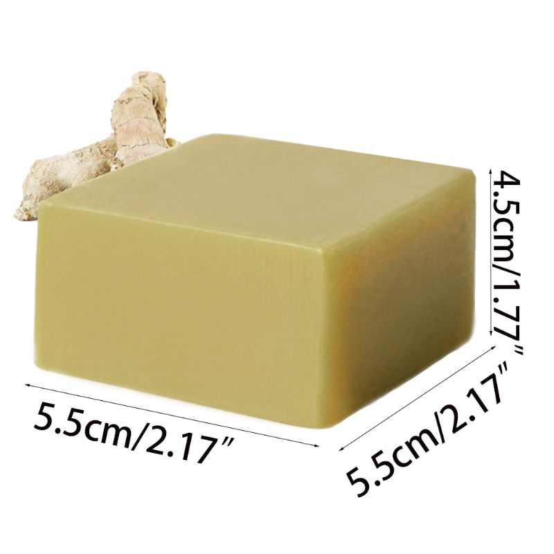 120g Ginger Essential Oil Handmade Rectangle Soap Anti-Bacteria Relieving Itching Shrink Pores Bath Hair Face Wash Skin Care