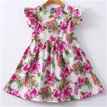 NEW 0-3 Years Summer Romantic Baby Girls Kids Infant Toddle Floral Rabbit Sleeveless Clothes Princess Dress NC# dropship