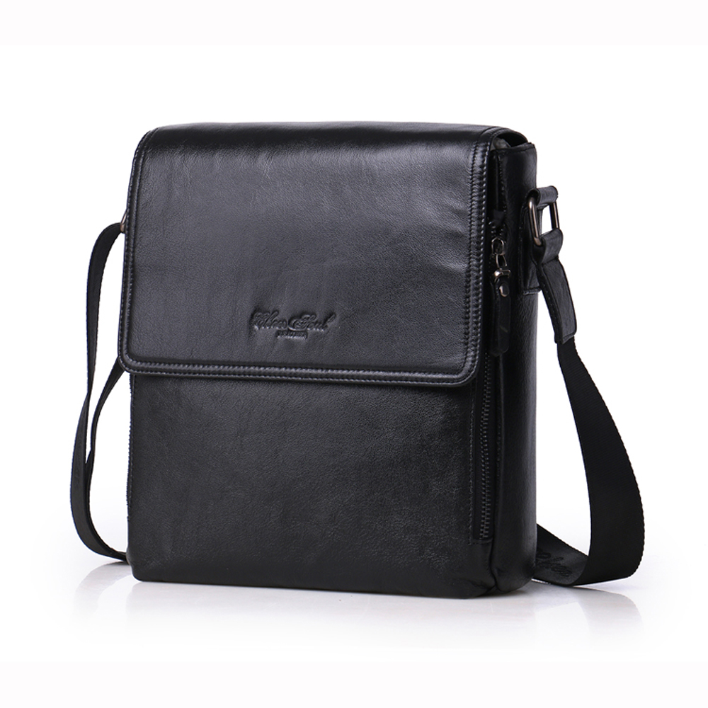 CHEER SOUL Hot  New style vertical genuine leather Fashion men's leather business bag  Messenger Bag casual men's Crossbody bag