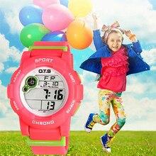 OTS Fashion Children's LED Digital Sports Boy's Girl's Kid Wrist watch Luxury Brand 50M Outdoor Child Clock montre enfant