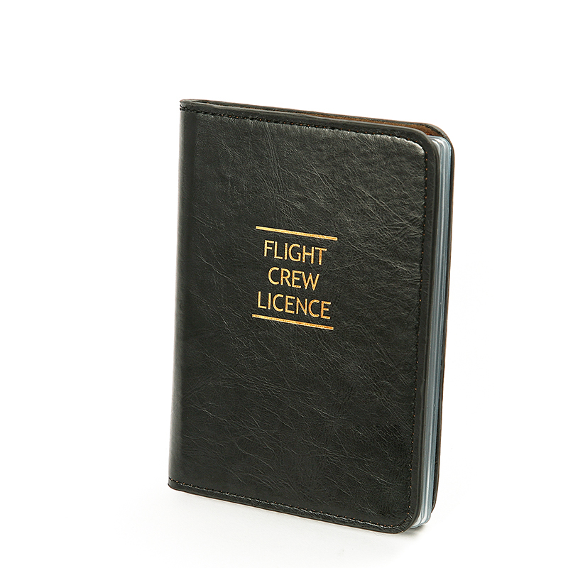 Pilots Credit Card PU Leather Holder High Quality Special Crew Men Folder Fight Crew Licence Case Bag Best Gift for Pilot