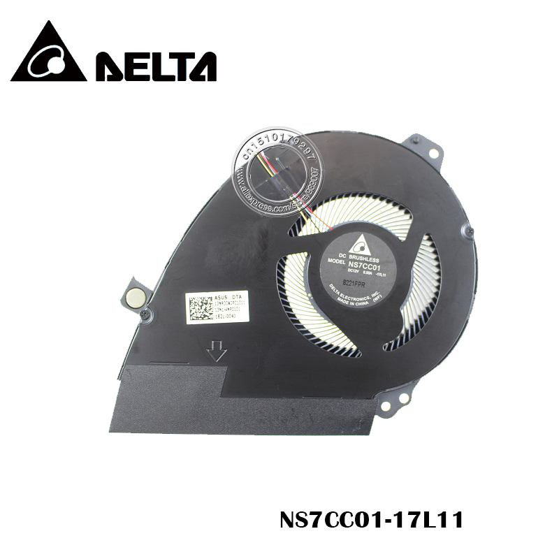 New and Original CPU Fan For ASUS GX501GI THERMAL CPU FAN NS7CC01 DC12V 0.50A -17L11 13NR00A0P01011
