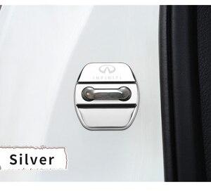 Image 3 - 4pcs Car Styling Auto Door Lock Cover Car Sticker Case For Infiniti FX35 Q50 Q30 ESQ QX50 QX60 QX70 EX JX35 G35 G37 EX3