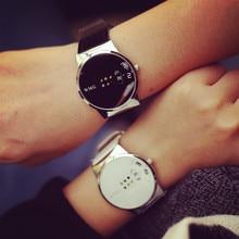Colorido de la manera de Las Mujeres Relojes Reloj Digital de Mujeres Hombres Reloj Ocasional Relojes de Alta Calidad de Cuero de LA PU Negro Blanco OP001