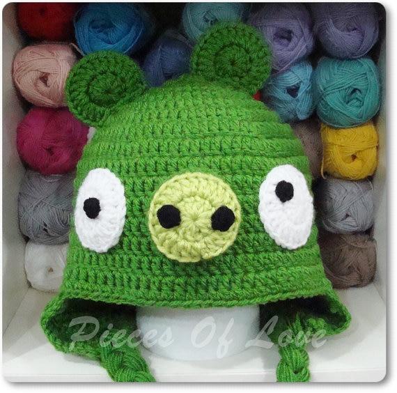 Häkeln Schwein Hut, baby rote vögel Hut, baby vögel Zubehör, Crochet ...