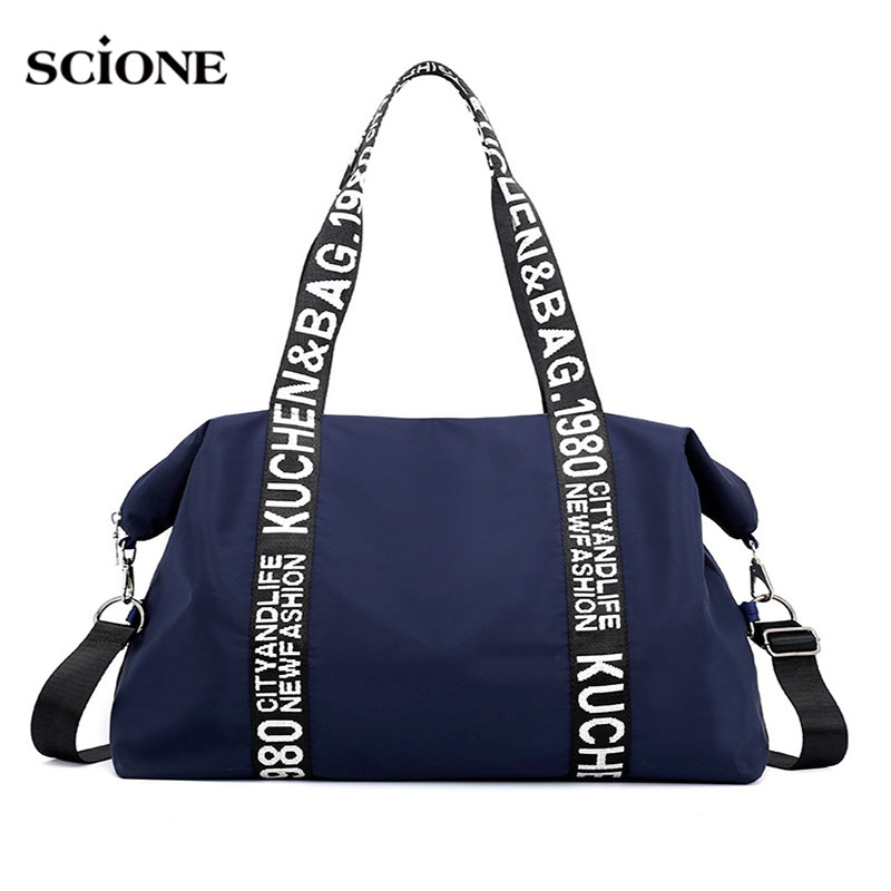 Outdoor Gym Bags For Fitness Women Travel Bag Waterproof Fashion Nylon Sports Handbags Shoulder Crossbody Training Tote XA40WA