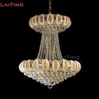 LAITING D70cm Мурано стекло цветок лотоса люстра золото светодио дный led гостиная де Cristal блеск освещение Lt 71086 + бесплатная доставка
