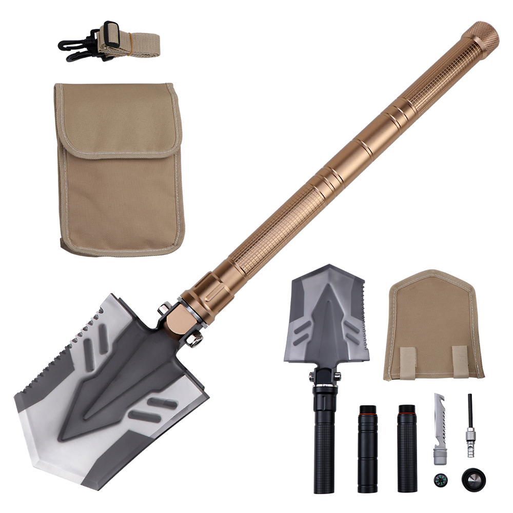Camping Military Folding Shovel Pickax Entrenching Tool Spade Gardening Garden Snow Mud Digger Car Emergency Multi Tool gardening tools gardening shovel stainless steel spade farming flower garden