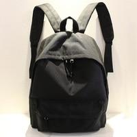 Fashion Waterproof Oxford Cloth Shoulder Bag Black Casual Men Women Backpacks Male And Female Student Bag