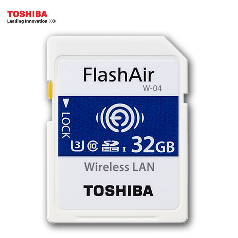 TOSHIBA WIFI Wireless SD Card 16GB 32GB FlashAir High Speed SDHC U3 Memory Card SLR Camcorder Memory Card Class3 4K SD Card genuine brand new brand wifi sd card 16gb 32gb sdhc class 10 uhs sd wifi memory card flash card for digital camera wholesale