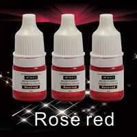 2Pcs Rose Red Professional Semi Permanent Makeup Tattoo Ink Vacuum Aseptic Makeup Pigment For Eyebrows Eyeliner
