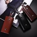 2017 New Man's Genuine Leather Key Bag Column Fashion Causal Key Wallet Multifunction High  Quality Solid Rivet Key Case