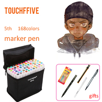 TOUCHFIVE 168 Color Set Art Markers Professional Drawing Supplies For Comic Manga Design Painting Art Supplies