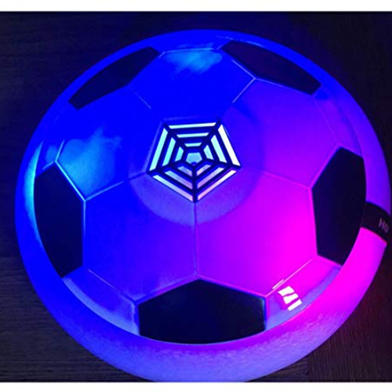 HZFCEW Kids Toys Air Power Soccer Ball Pneumatic Suspended Football With Foam Bumpers And LED Lights For Indoor Or Team Games