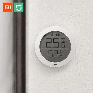 Image 5 - Цифровой термометр Xiaomi, Bluetooth датчик температуры и влажности, измеритель влажности, ЖК экран, для приложения Mijia mi home