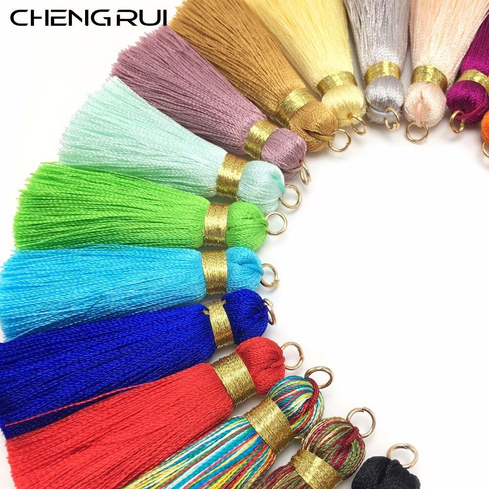 CHENGRUI L114,4cm,silk tassels,small tassels,hand made,earring findings,fringe curtain,tassel fringe for curtains,4pcs/bag